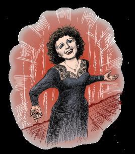 Edith Piaf singing