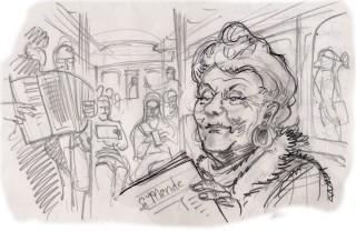 Metro lady