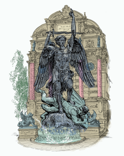 St.Michael fountain COLOR
